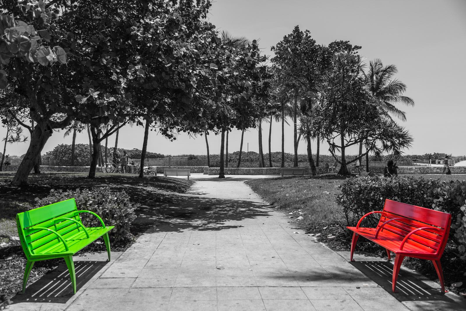 south beach benches