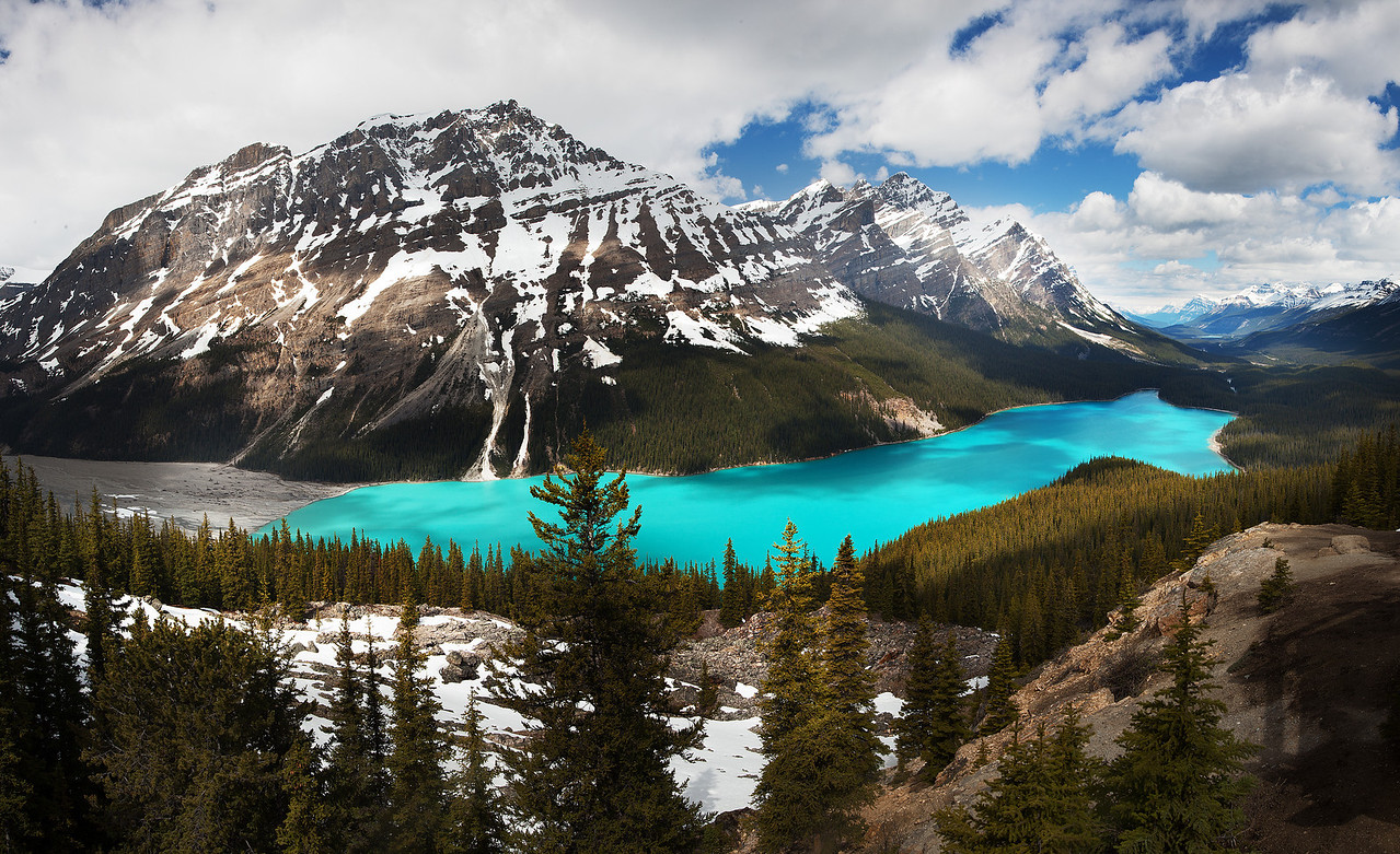 Peyto Lake.  That is it's natural color