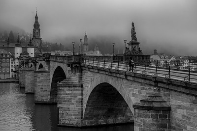 Old Bridge and Fog, Heidelberg, Germany
