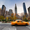 "<h2>New York, Yellow Cab</h2> Here is one of my favorite areas of New York. It's right by the famous Flatiron building -- but I obviously did not shoot in that direction here.  There's often a nice traffic flow, and it makes for a fun experiment to time out the traffic. Since I shoot from -2 to +2., I try to predict when the middle exposure will in the right spot to get the right amount of blur on that photo. My rules for this are a little different based on the time of day and a few other factors.  - Trey Ratcliff  Read more <a href=""http://www.stuckincustoms.com/2011/11/15/new-york-yellow-cab/"">here</a> at the Stuck in Customs blog."