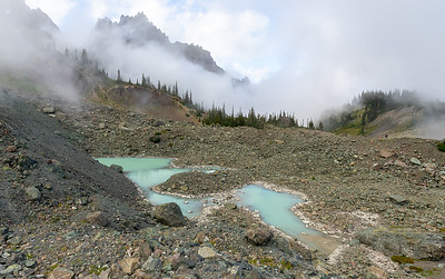 Small glacial silt tarns