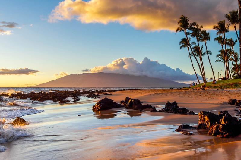 Volcanic Beach Sunset on Maui