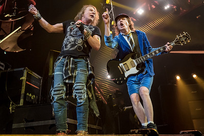 Axl Rose and Angus Young of AC/DC