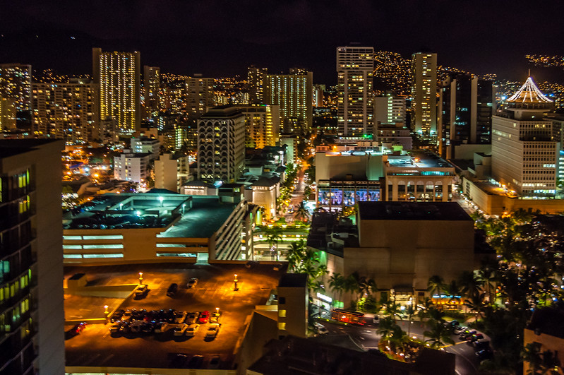The Glow of Downtown Honolulu