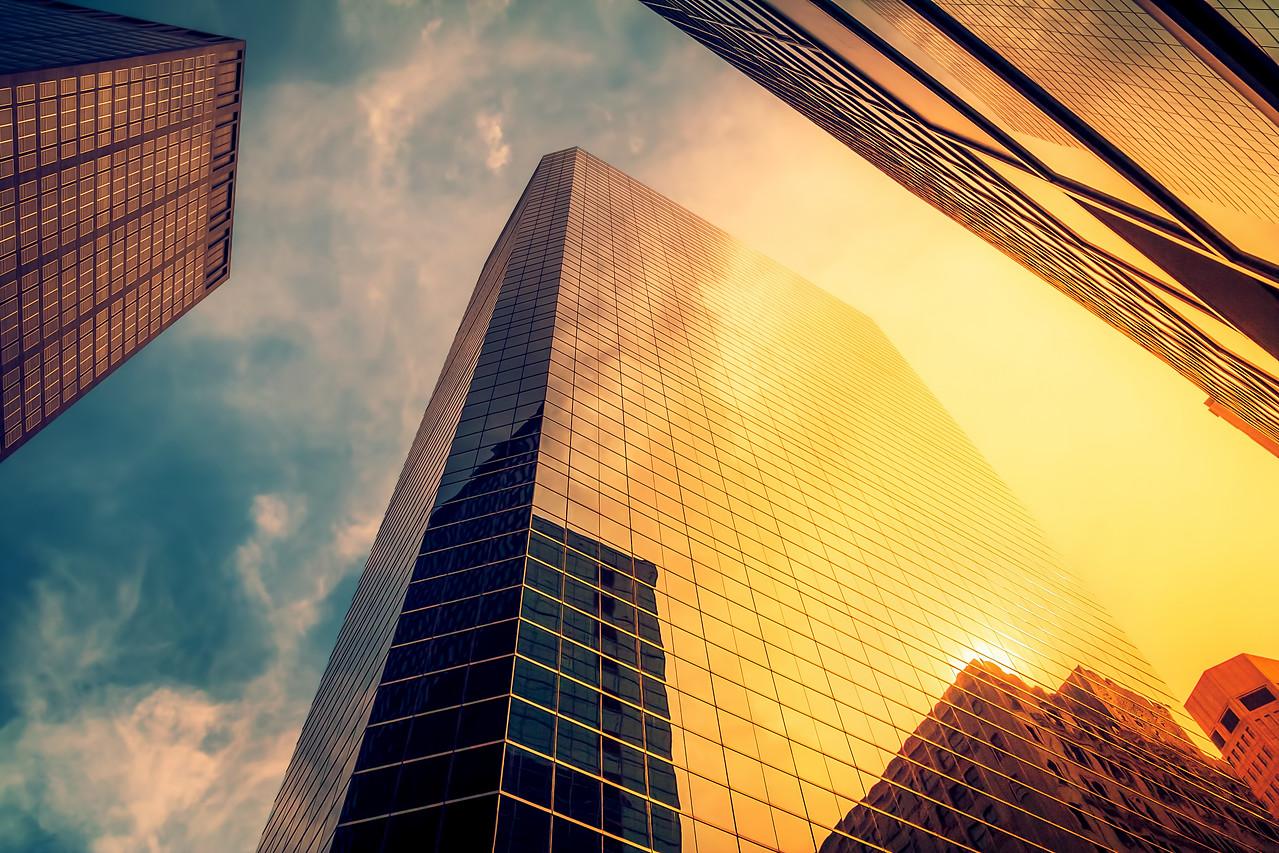 Lower Manhattan Morning Reflections (New York)