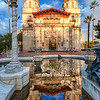 "<h2>Hearst Castle in San Simeon</h2> <br/>Did you know that Hearst Castle is only a few hours north of LA?  If you ever end up in LA for a trip, be sure to set aside a few hours for a trip up to see this place.  After you get out of the LA city-scape-area, the terrain totally changes - so does the ""feeling"".<br/><br/>Towards the end of the day, all the tourists had left.  I had an escort with me for most of the day.  This gentleman was a retired LAPD officer who spends a few days per week working up at Hearst Castle.  There are several of these guys and gals that help keep the place secure.  They take the job pretty seriously, as you would expect from any LAPD-type.  After a few hours, I was able to wear them down with humor.  I found they responded very well to anti-lawyer humor, btw.  So keep that one in mind in case you ever get in a pinch.<br/><br/>Everyone there was extremely nice, and I loved the opportunity to capture Hearst as it is meant to be captured.  I kept returning to this fountain time and time again -- until the skies and light was just right...<br/><br/>- Trey Ratcliff<br/><br/><a href=""http://www.stuckincustoms.com/2010/05/14/hearst-castle-in-san-simeon/"" rel=""nofollow"">Click here to read the rest of this post at the Stuck in Customs blog.</a>"