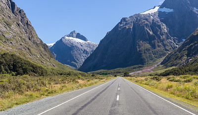 Driving out of Milford Sound