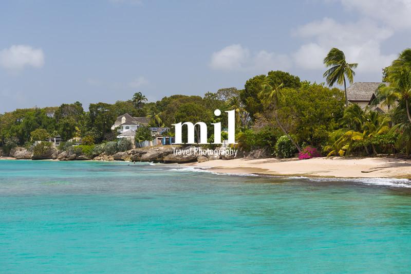 The coastline of Barbados