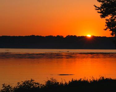 Mississippi River Sunset - Iowa