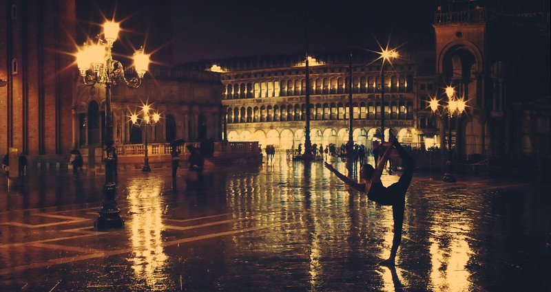 Rainy Yoga In St. Mark's Square