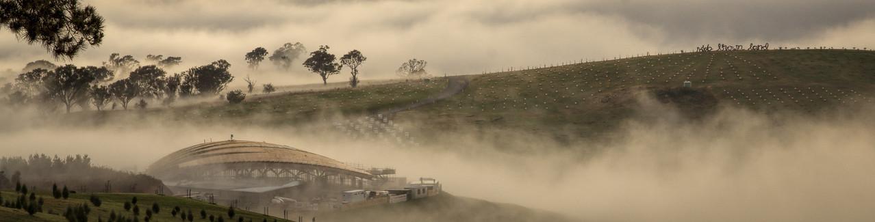 Foggy Pavillion Winter