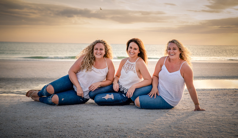 Generational Family Photo Shoot at Siesta Key