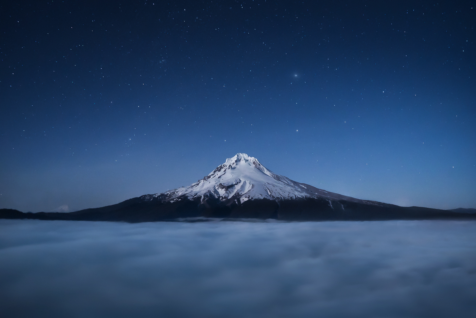 Mount Hood Above The Clouds & Below the Stars