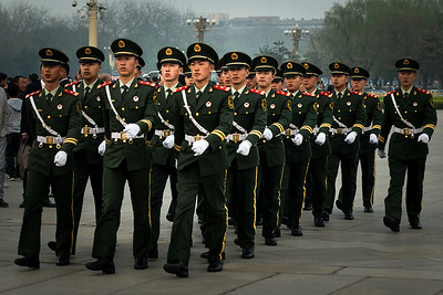 Soldiers at Tiananmen Square