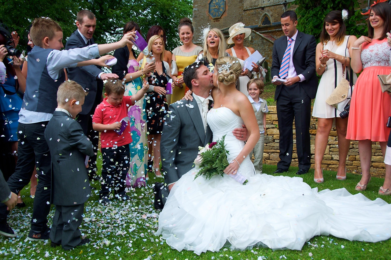 Wedding photographer at Billing Church Northampton