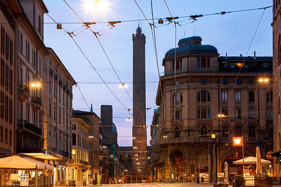 Sunrise, Two Towers, Bologna, Emilia-Romagna, Italy