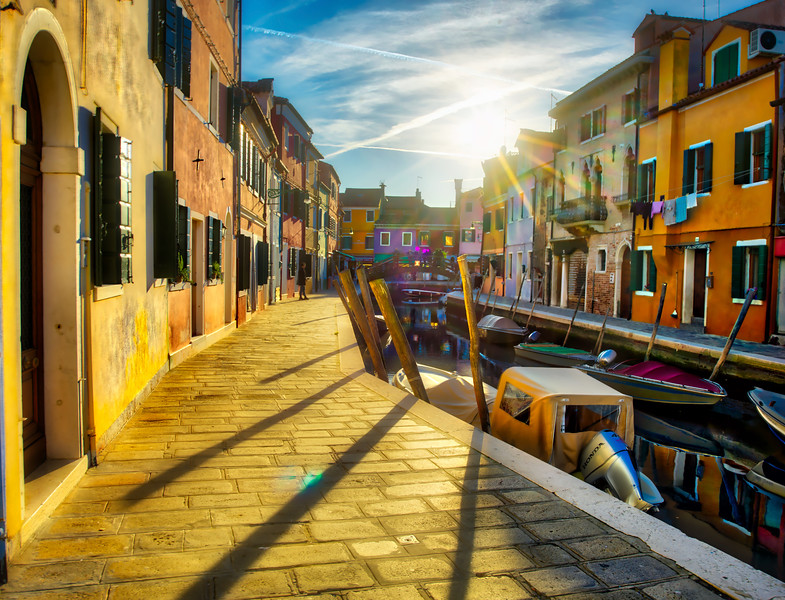 Sunset In Burano