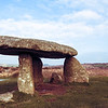 Lanyon Quoit Standing Stone and Engine House at Land's End, Cornwall, England