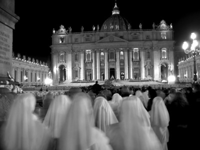 Piazza San Pietro, 9:30 PM, Death of Pope John Paul II Series. 2005