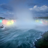 Niagara Falls Illumination after Sunset (Canada)