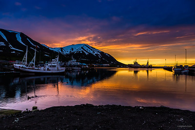 Sunset in Dalvík