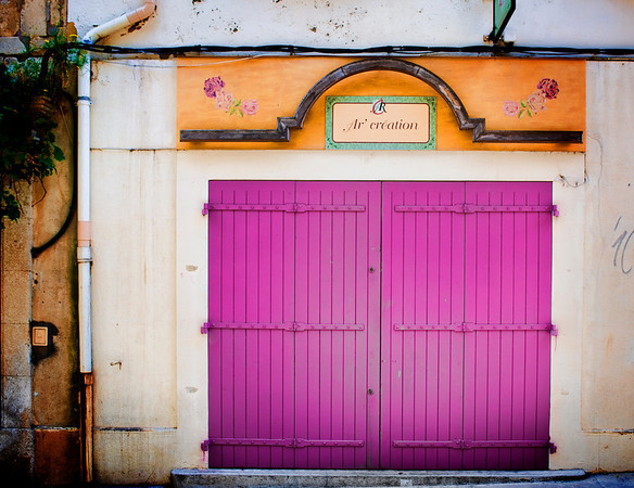Pretty Door in ArlesIt was a perfect day in Arles while my wife and I were strolling around the streets and finding little things here and there.  She went into a cafe to get some food to go, and I took the time to wander the streets and find some pretty little scenes.  Many of the window shutters, gates, and doors were painted all sorts of colors.  I thought this little place along the street had a nice feel to it… made me wish I lived there!- Trey RatcliffClick here to read the rest of the post at the Stuck in Customs blog.