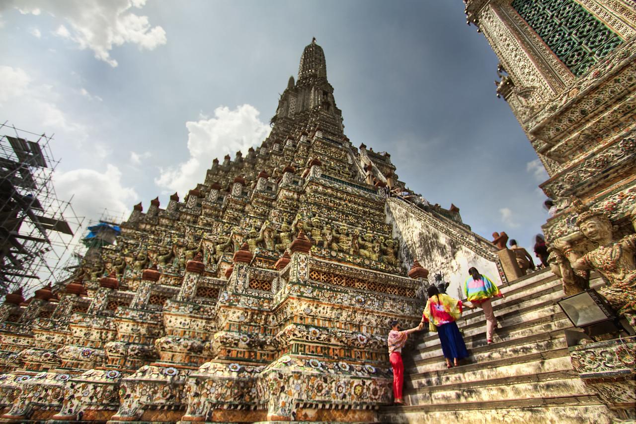 The Steps of Wat Arun