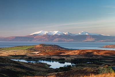 Winter Sun Reflecting on a Cold Arran