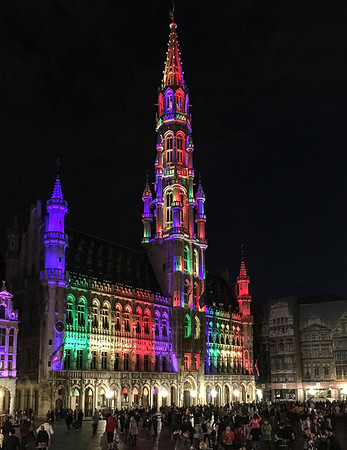 Gay Pride at the Grand Place in Brussels