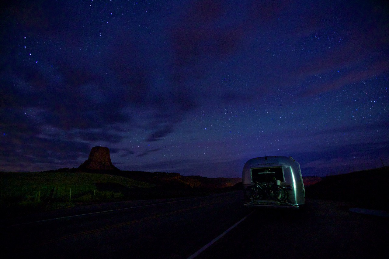 Airstream at Devil's Tower National Monument