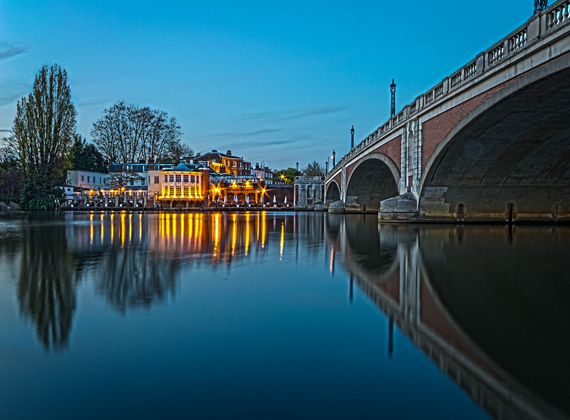 Hampton Court Bridge at sunset