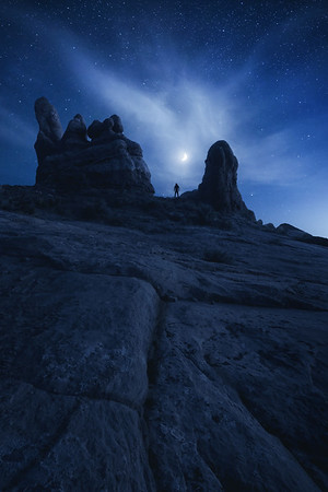 Stargazing in Arches National Park, Utah