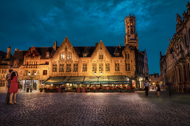 Belgium - Red Dress in Bruge