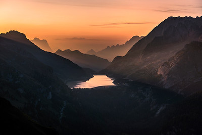 Sunrise over Lago Fedaia