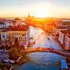 Ponte Dell'Accademia At Sunrise