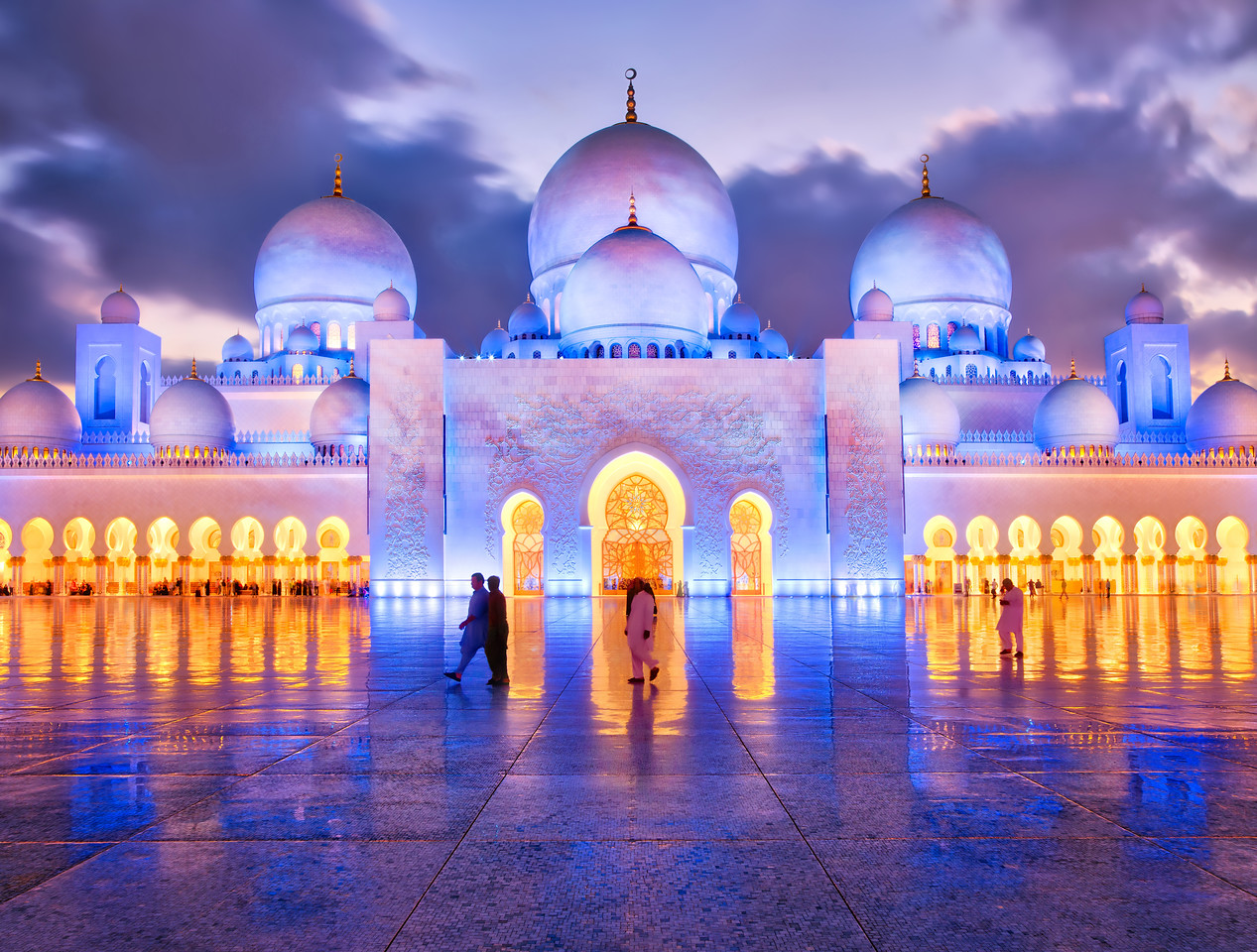 An Evening Stroll At The Mosque