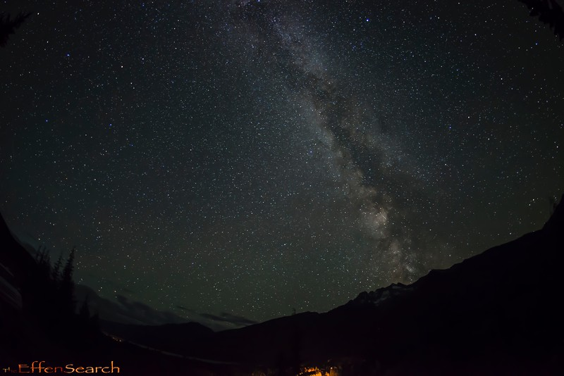 The Milky Way Galaxy over the Goat Range in the Kootanays.