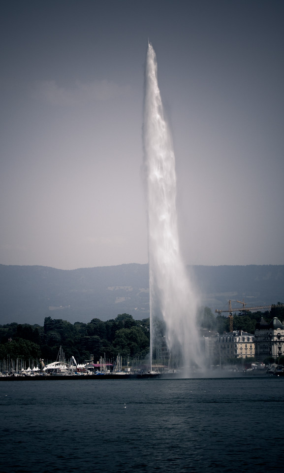 'Jet D'Eau' - The most famous landmark of Geneva. This is also the highest fountain in the world