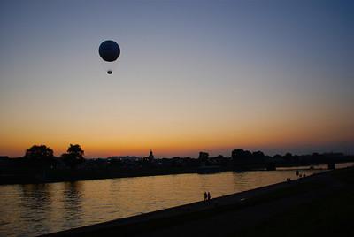 Krakow sunset-balloon