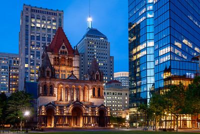 Trinity Episcopal Church, Copley Square, Boston, Massachusetts, America