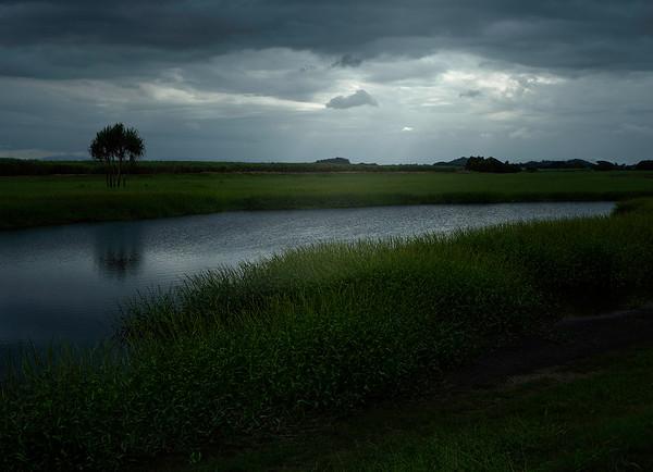 Lagoon, dusk.