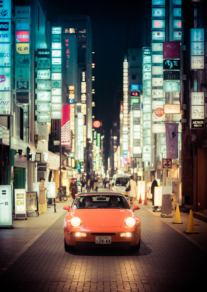 Driving in Ginza
