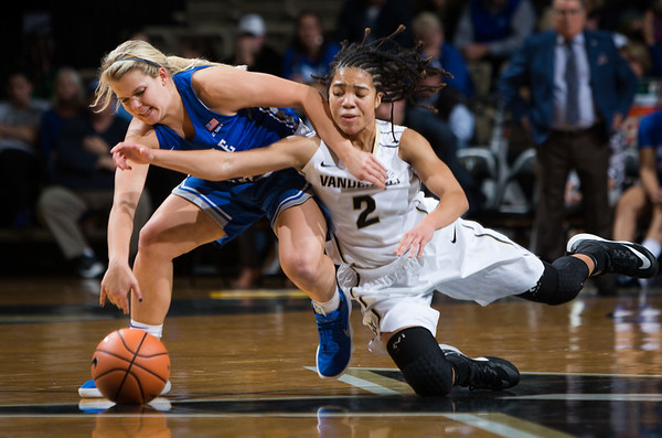 The Vanderbilt Women's basketball team faces off against MTSU on Friday, November 10, 2017.