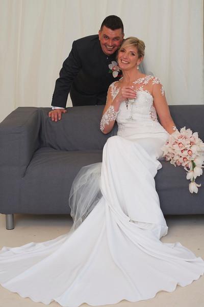 Marquee Wedding Portrait