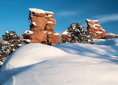 The Siamese Twins in Garden of the Gods, Colorado