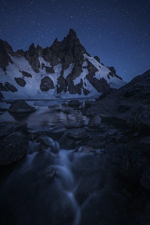 Night over Broken Top Mountain, Oregon