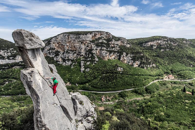 Climbing at the Tre Frati