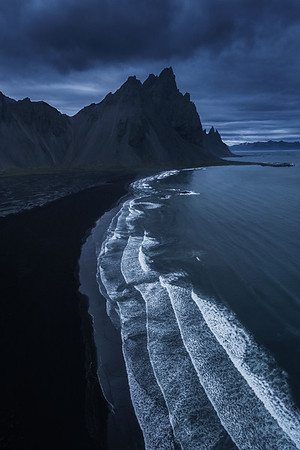 Flying High Above Vesturhorn, Iceland