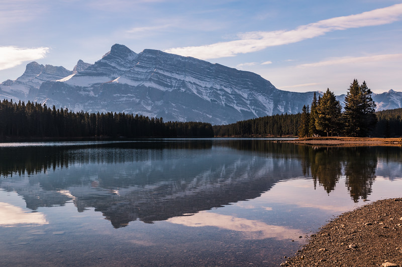 Two Jack Lake in the Morning