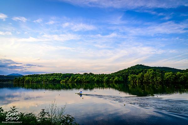 Kayaker on Melton Hill Lake